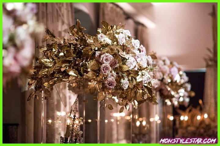 Mariage glamour blanc et or à Beverly Hills à l'hôtel Bel Air
