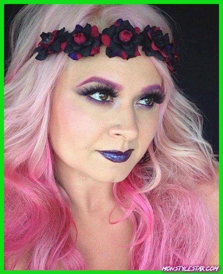 Coiffures ombre blonde à rose tendre - rose