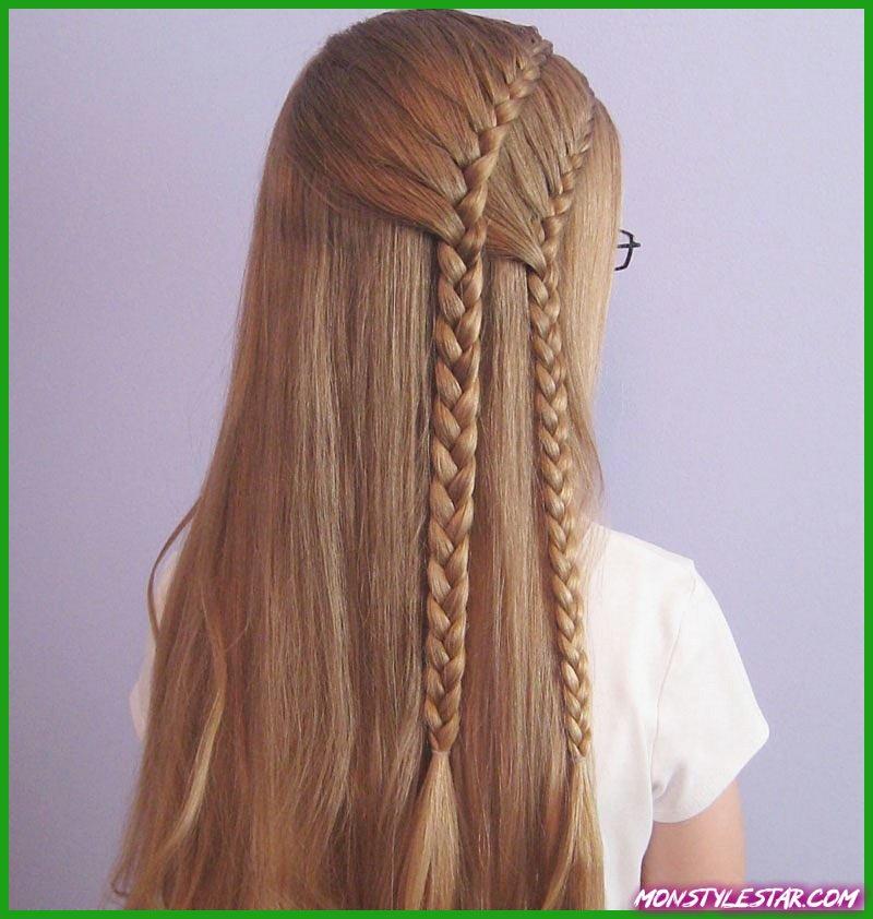 Photo de Deux coiffures en tresse française pour femmes
