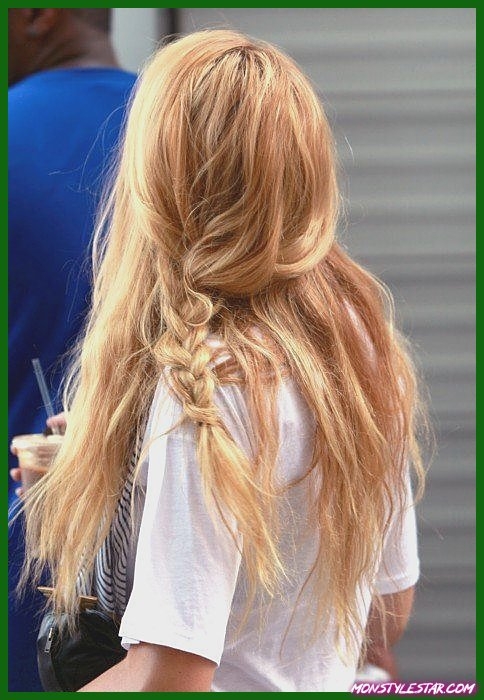 couleur de cheveux blonde fraise crème