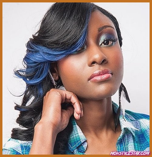 15 coiffures bleues en surbrillance