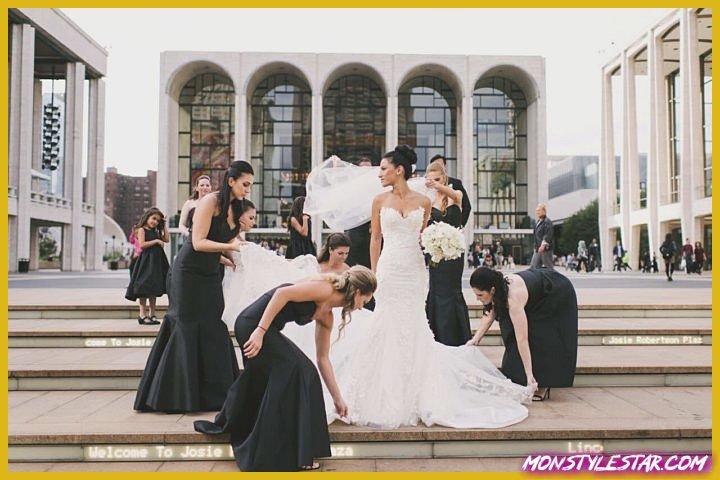 Mariage glamour noir et blanc à New York de Brian Hatton Photography