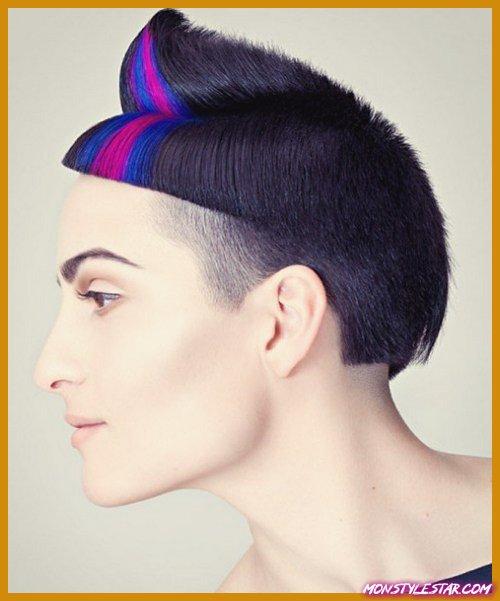 Photo de 20 coiffures chics punk pile femmes