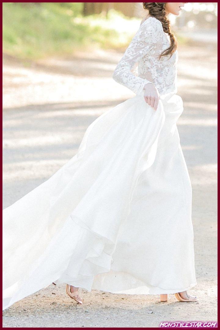 Superbe shooting de mariage en plein air mauve et doré