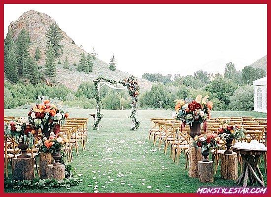 Photo of Mariage à couper le souffle Sun Valley dans les montagnes de l'Idaho