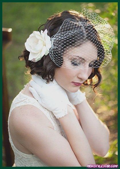 Photo de 15 différentes coiffures de mariage bouclés