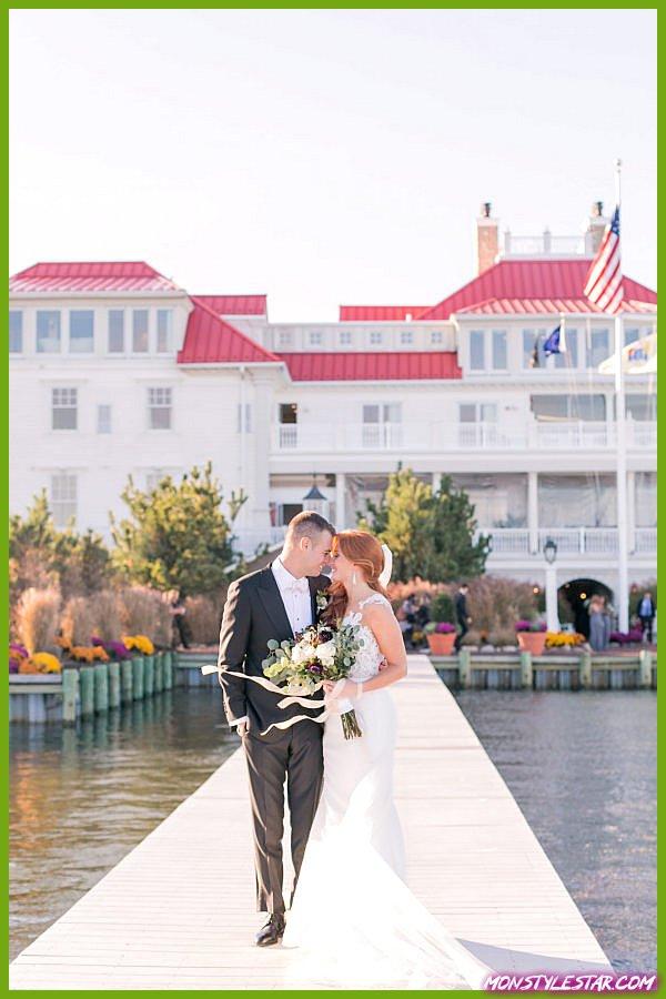Mariage d'automne de rêve au bord de la mer dans le New Jersey par Amy Rizzuto Photography