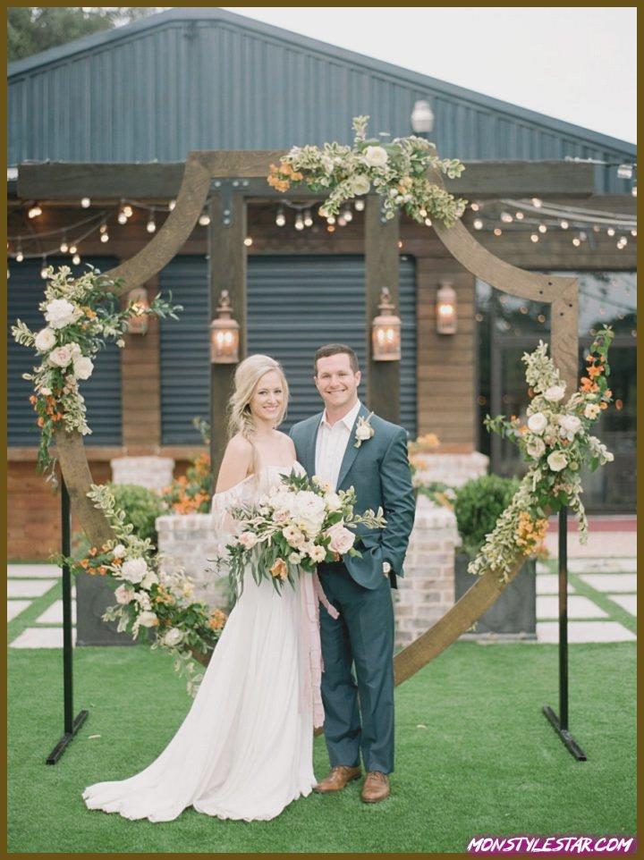 Délire pile un union au Texas en compagnie de des agrumes floraux chics de Dana Fernandez Photography