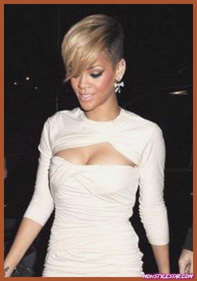 Flirty Bangs with Undercut Hairstyle- Les coiffures courtes de Rihanna