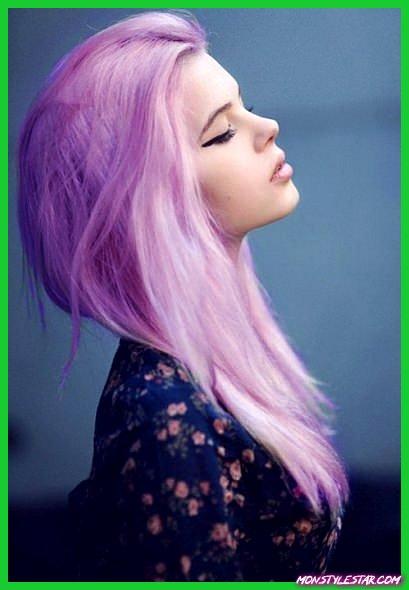 Pastel Purple Hair Color-Couleurs de cheveux pastel