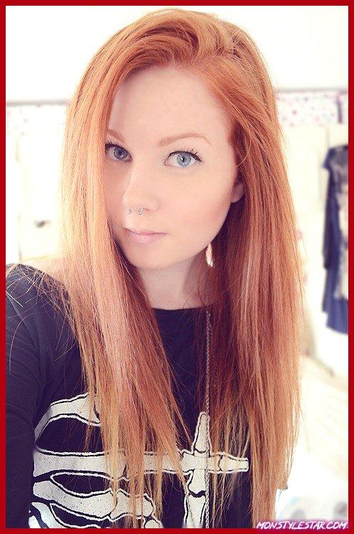 couleur de cheveux blonds fraise brillant