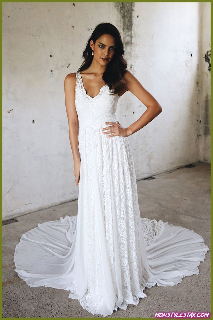 Grace élégamment romantique aime les robes de mariée en dentelle pour la Saint-Valentin