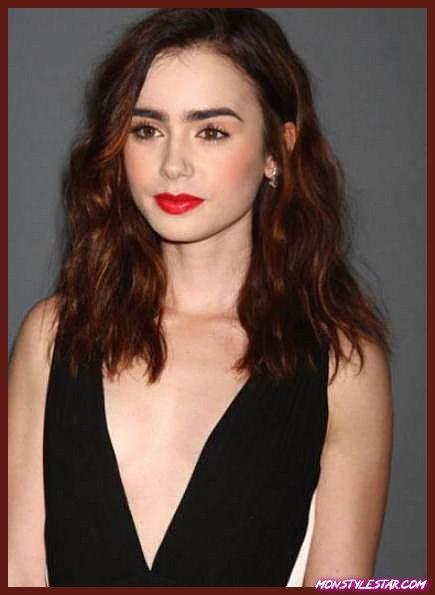 Cheveux bruns avec reflets rouges - Nuances de cheveux roux