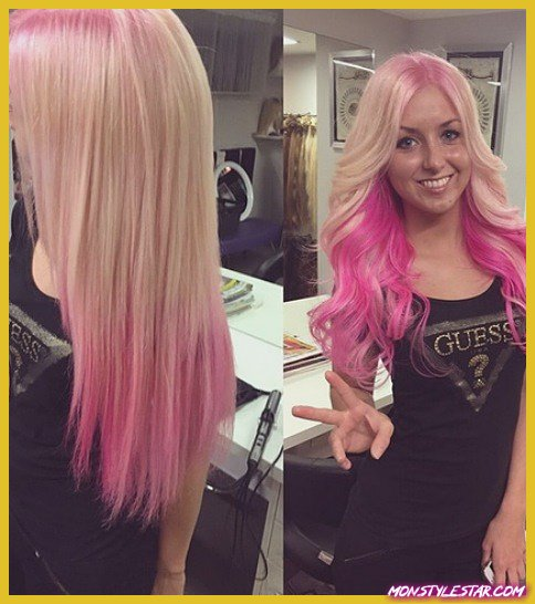 Smooth Blonde and Pink Locks- Coiffures ombrées roses