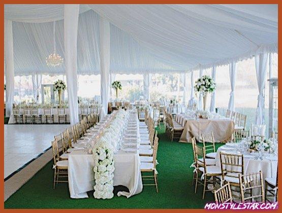Photo de Mariage floral classique en Floride, vert et blanc