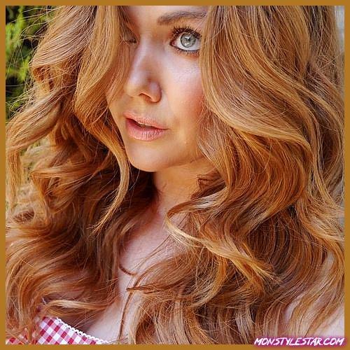couleur de cheveux blond cuivre fraise