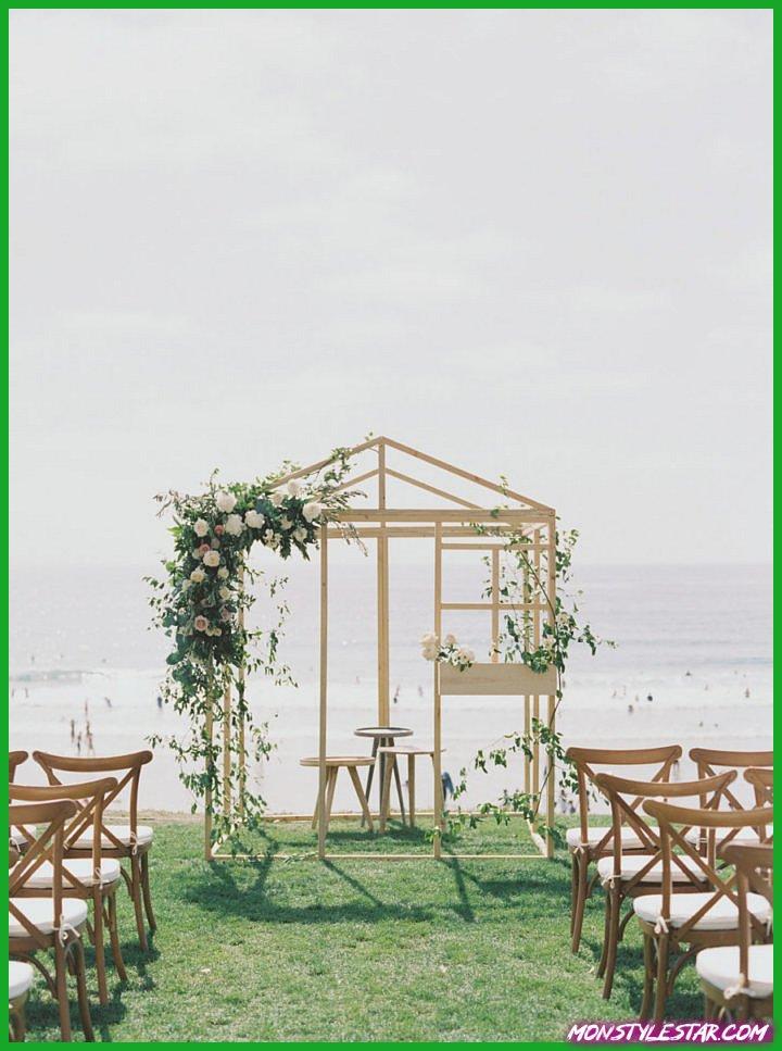 Superbe mariage d'été en bord de mer en Californie avec jardin