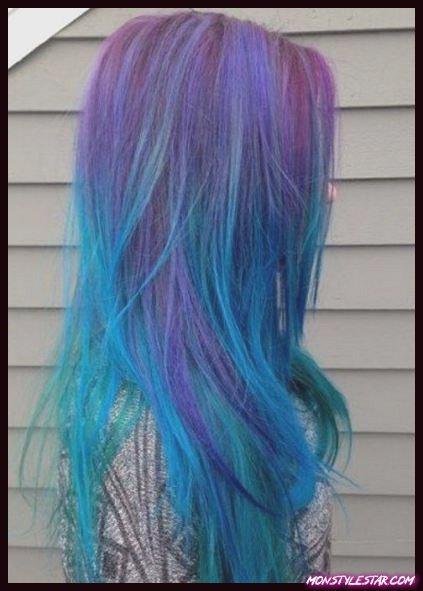 Plusieurs couleurs de cheveux bleus