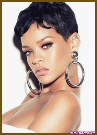 Très courte et ondulée - les coiffures courtes de Rihanna