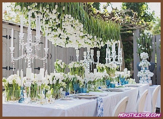 Photo de Inspiration magnifique pour un mariage néerlandais bleu et blanc