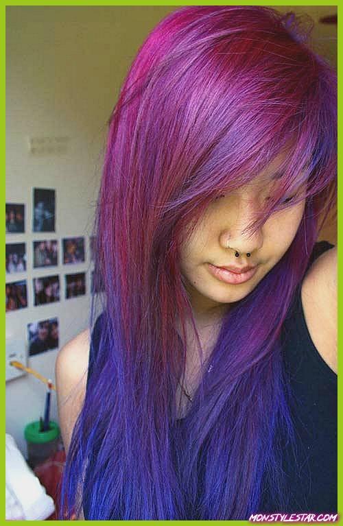 Coiffures Funky Hair Color pour cheveux longs et naturels
