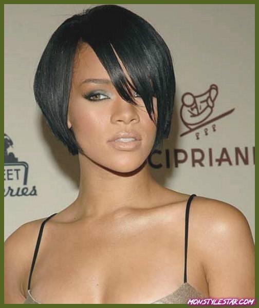 20 grandes coiffures courtes noires