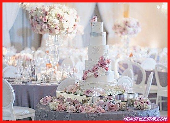Photo de Mariage glamour de lavande et de blush à Beverly Hills avec un thème de jardin parisien