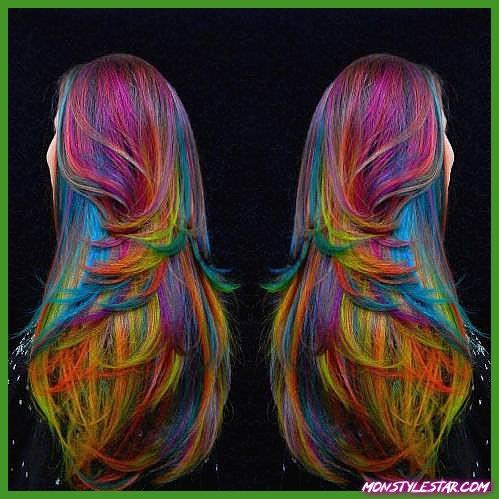 Photo de 20 superbes coiffures arc-en-ciel