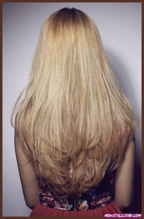 Cheveux longs avec des couches pour les cheveux longs naturels