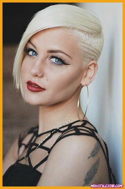 Pixie blonde asymétrique avec Bangs-Pixie coupes de cheveux avec Bangs