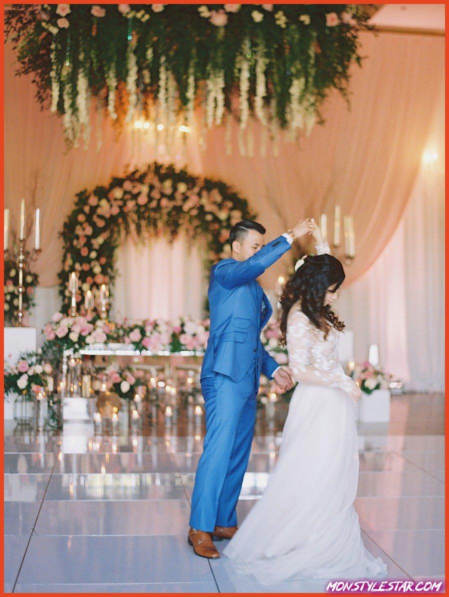 Mariage au Texas élégant avec des fleurs roses magnifiques