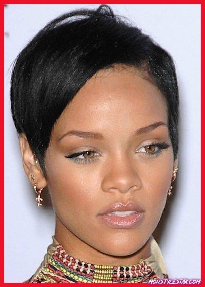 Style A-Line court - les coiffures courtes de Rihanna