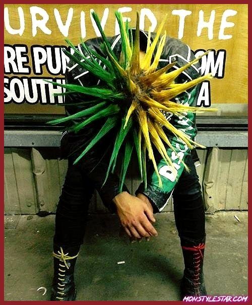 Coiffures punk Liberty Spikes pour hommes