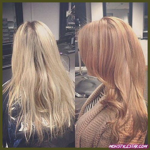 Tranformation Strawberry Blonde Hair Color