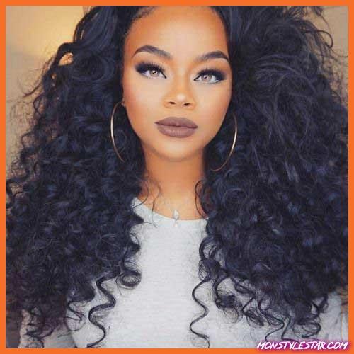 20 jolies coiffures frisées noires