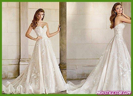 Photo de Mon Cheri présente la superbe robe de mariée style Martin Thornburg Coda