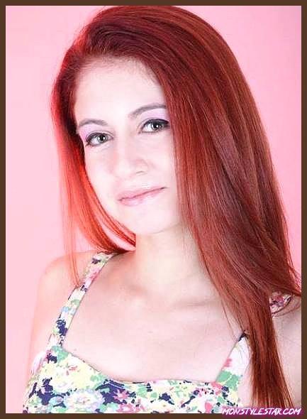 Rouge avec une nuance brune - nuances de cheveux roux