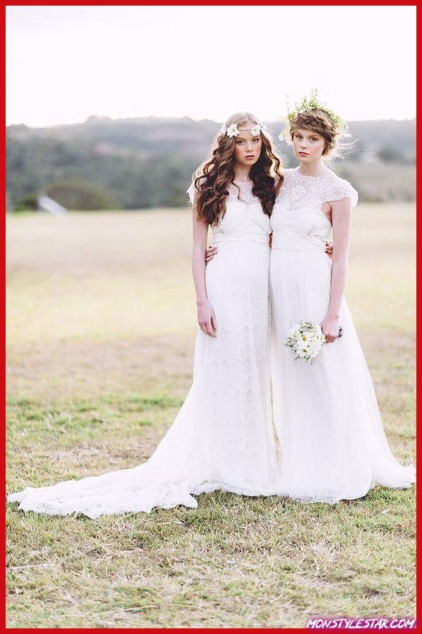 Robes de épousée en jabot puis une fierté usité