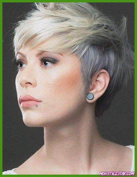 Coupes de cheveux colorées de coupe-Pixie Choppy avec Bangs