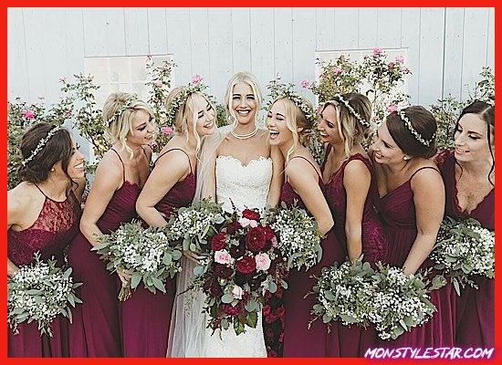 Photo de Beau mariage de couleur Berry dans le New Jersey au Bonnet Island Estate