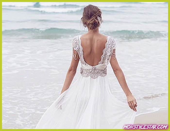Photo de Robes de épousée de décape occasionnels revers durer calme