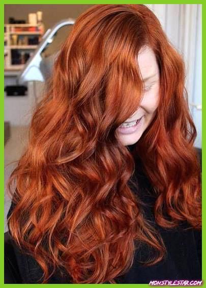 Rouge plein et séduisant - nuances de cheveux roux