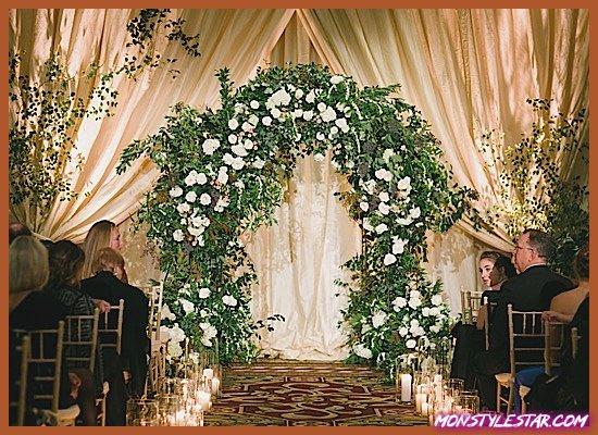 Photo de Mariage glamour en Californie et en blanc à la veille du nouvel an