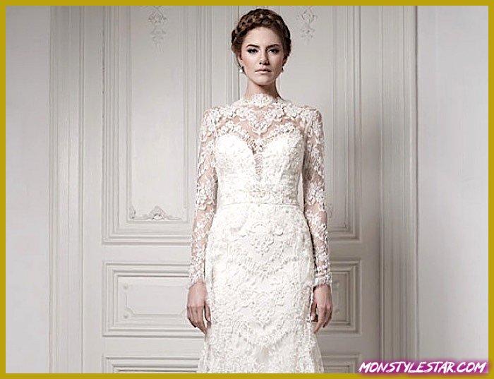 Photo de 21 magnifiques robes de mariée à manches longues
