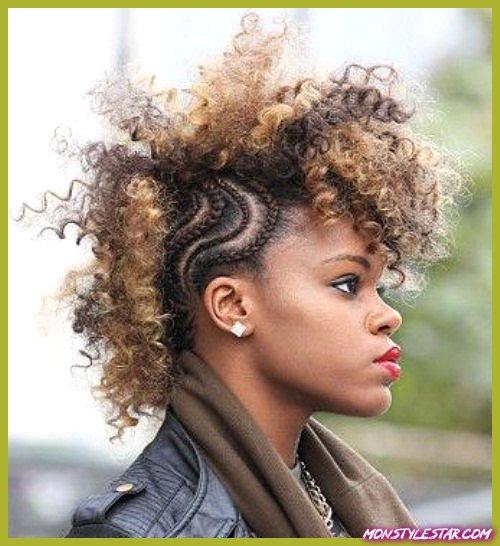 20 coiffures Mohawk à cheveux naturels raffinés