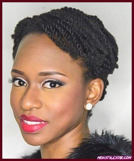 Tight Black Twists-Coiffures naturelles pour les cheveux courts