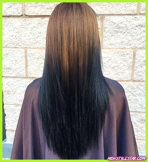 15 élégants cheveux raides ombre