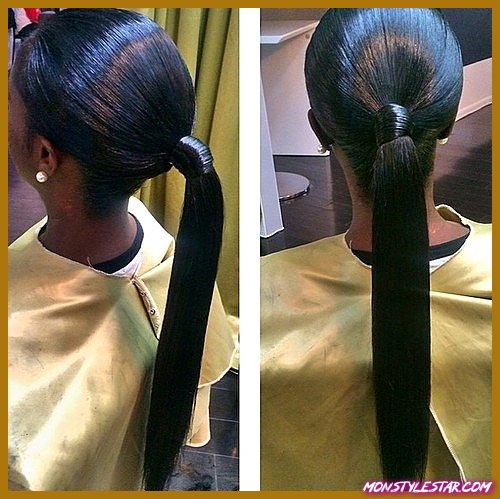 20 coiffures noires en queue de cheval