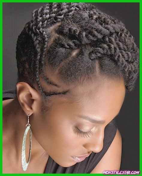 Coiffure naturelle tressée - Coiffures naturelles pour cheveux courts
