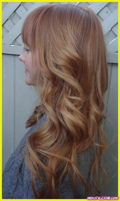 couleur de cheveux blond fraise raffiné